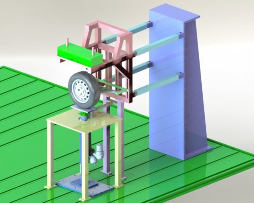 Images of Suspension System Test Bench